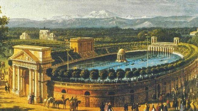 L'Arena  come si presentava nel 1870