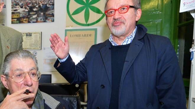 Umberto Bossi con Roberto Maroni