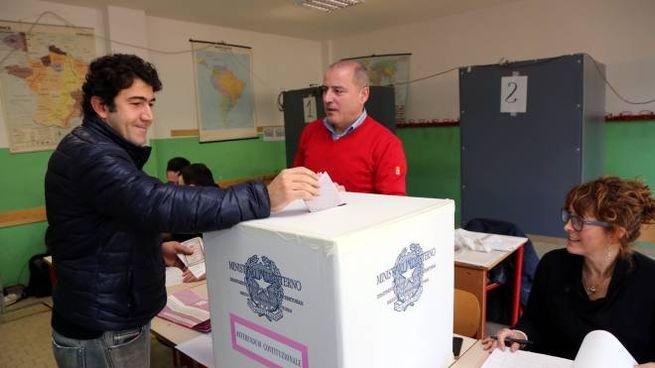 Un elettore al voto (Germogli)