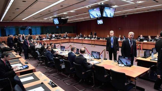 La seduta dell'Eurogruppo a Bruxelles (Afp)