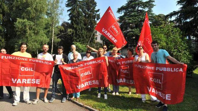 Il presidio di protesta organizzato in estate dai lavoratori