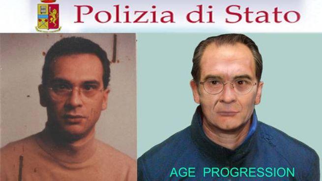 Matteo Messina Denaro: a destra, l'identikit di come potrebbe essere ora (Ansa)