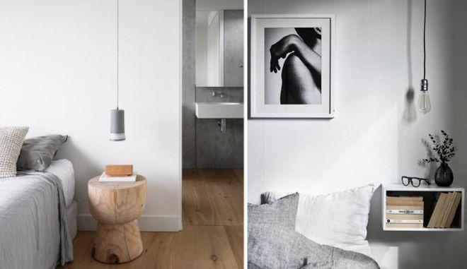 Camera da letto: lampade a sospensione sul comodino - Tempo ...