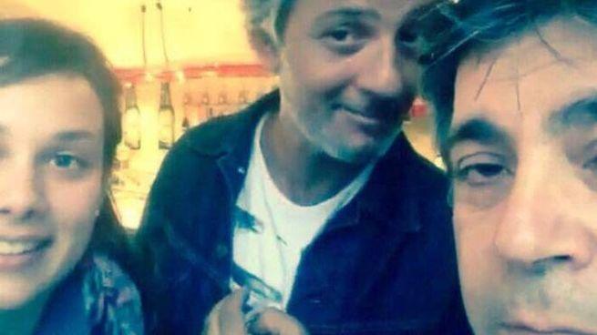 Il selfie di Giulia Pratelli, 27 anni di Forcoli, insieme a Fiorello