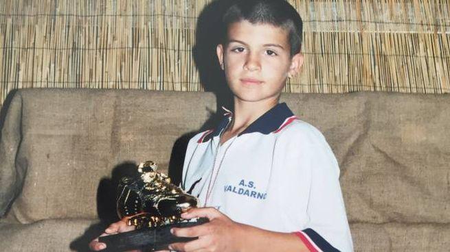 Gianluca Mancini in una foto da piccolo