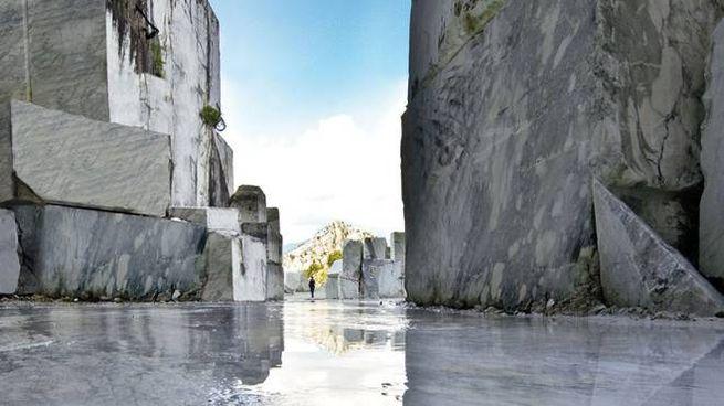 Una splendida immagine della cava delle Madielle dove viene estratto anche il «Fior di pesco apuano»