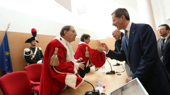Il procuratore Dell'Osso con Matteo Colaninno a Brescia