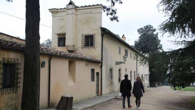 Alcune abitazioni all'interno dei giardini di Boboli