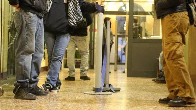 I tornelli all'ingresso della biblioteca delle Discipline umanistiche (foto Schicchi)