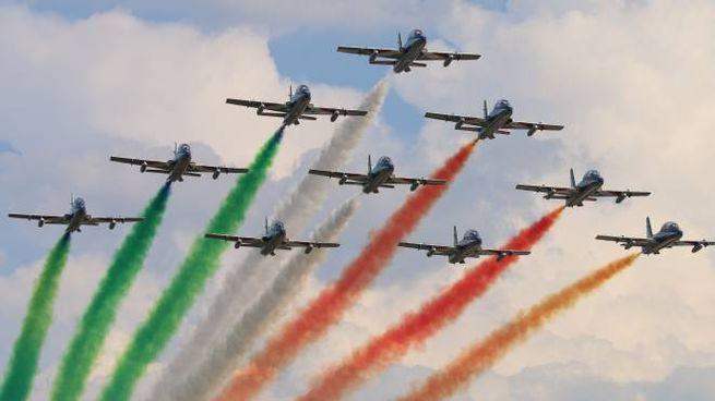 Lo spettacolo delle Frecce Tricolori