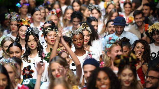Modelle in una precedente edizione di Milano Moda Donna (Ansa) cbcc0869b04