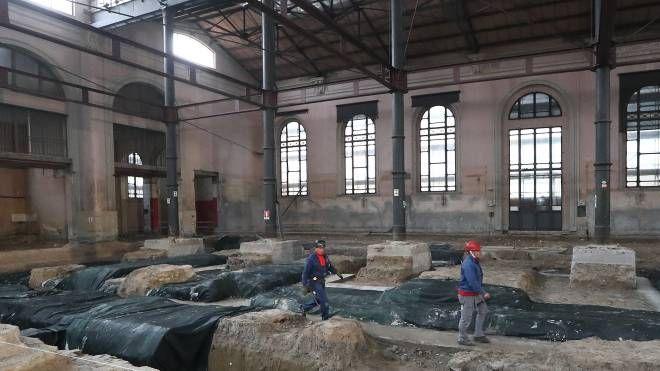 Ravenna, lavori al mercato coperto (foto Zani)