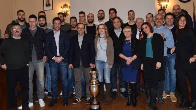Civitanova, la festa per la vittoria in Coppa Italia della Lube (foto Vives)
