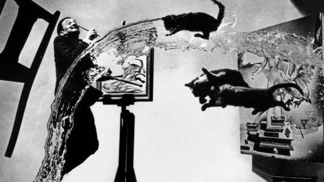 Il genio di Salvator Dalì in una foto del 1948 scattata da Halsman (foto Magnum)
