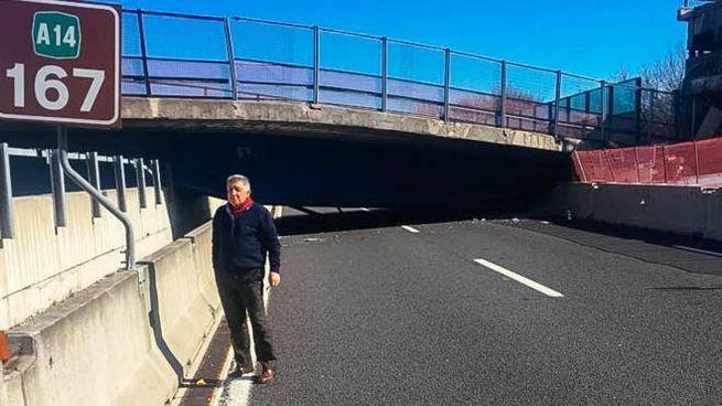 Ponte crollato in autostrada A14, Mario Borroni (foto Zeppilli)