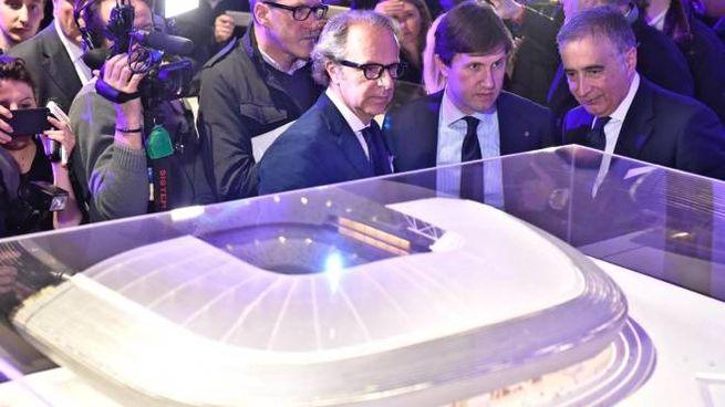 La presentazione del progetto del nuovo stadio, il 10 marzo 2017