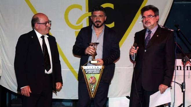 Gattuso riceve il premio Scirea (foto Umicini)