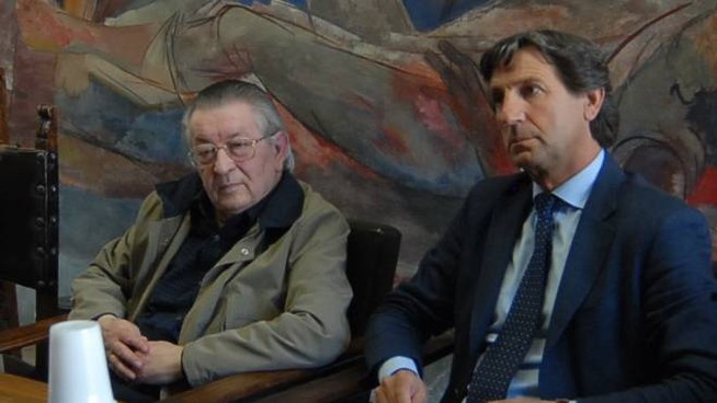 A sinistra Marchetti con Zubbani