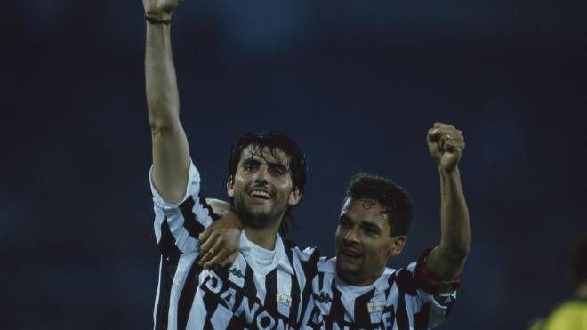 Marco De Marchi assieme a Roberto Baggio