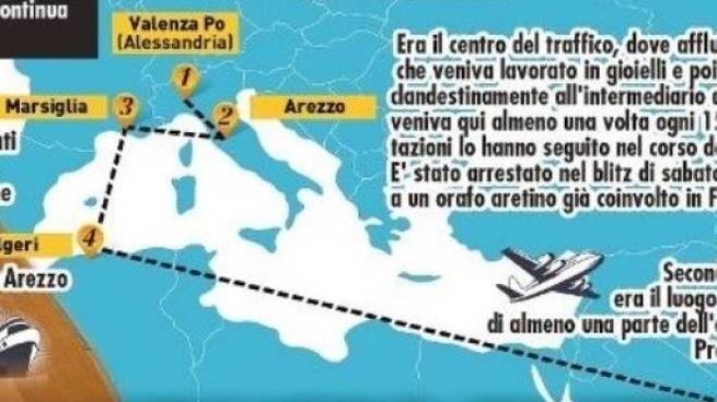 La mappa del traffico di oro nero