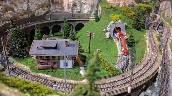 Un tracciato ferroviario funzionante riprodotto a Model Firenze