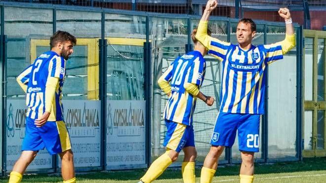 Il gol di Molinari (foto Zeppilli)