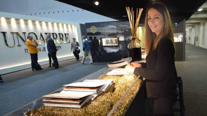 L'ingresso della mostra dell'oro