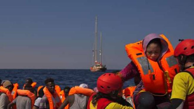 Sbarchi di migranti, foto di repertorio (Ansa)