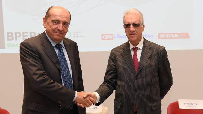 Fabrizio Togni e Piero Ferrari (foto Fiocchi)