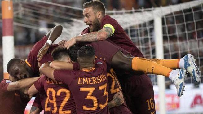Roma-Juve 3-1, festa giallorossa (Ansa)