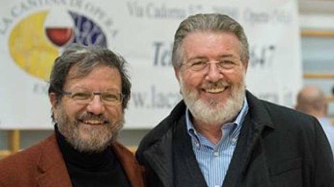 Mario Mazzoleni insieme a Filippo Penati