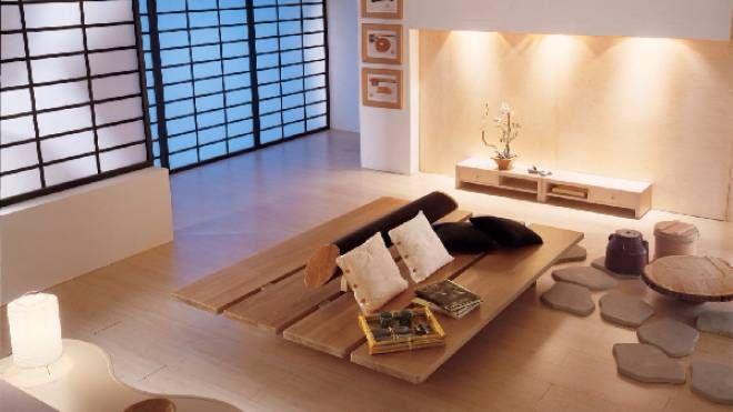 una casa arredata in stile tipicamente giapponese