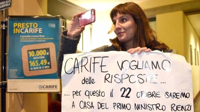 Una delle manifestazioni contro il vecchio modello Carife (foto archivio Businesspress)