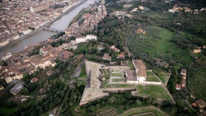 Veduta aerea del Forte di Belvedere