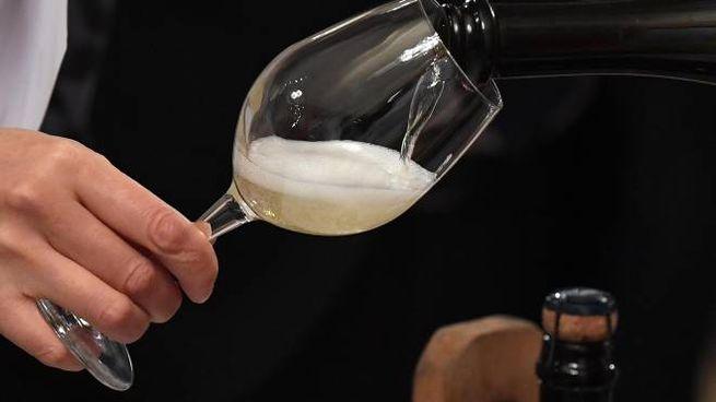 Un vino bianco (foto d'archivio Ansa)