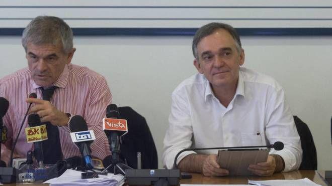 Il presidente Enrico Rossi con Sergio Chiamparino (Ansa)