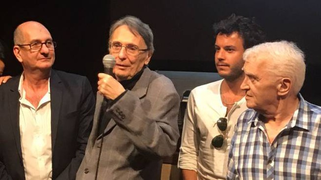 Il regista Cavallini, Antonucci, Borchi e Forconi