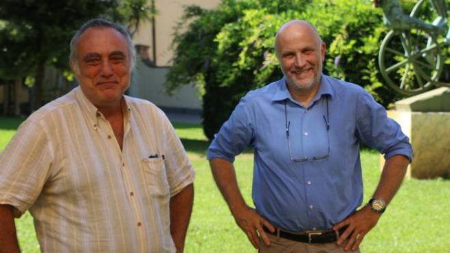 Il direttore della Scuola Normale, Vincenzo Barone e il rettore della Sant'Anna, Pierdomenico Perata (Foto Valtriani)