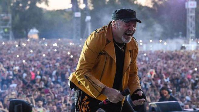 Vasco Rossi al Modena Park (foto Ansa)