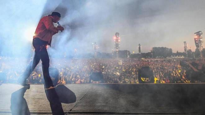 Vasco Rossi in concerto a Modena Park (Ansa)