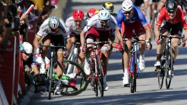 Tour de France, Peter Sagan squalificato dopo la volata (Ansa)