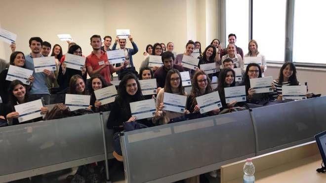 Gli studenti del corso di Economia delle Aziende di Assicurazioni