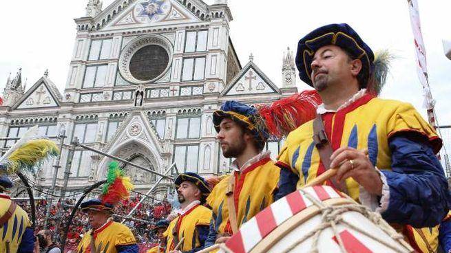 Il calcio storico fiorentino (Pressphoto)