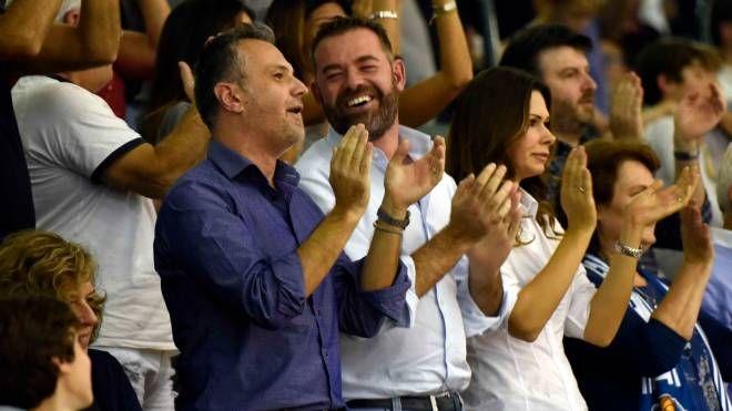 Fabio Bulgarelli e Marco Cocchi in tribuna (Foto Bp)
