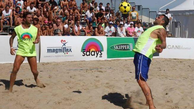 Bobo Summer Cup, Davide Lippi e Christian Vieri in campo (foto Corelli)