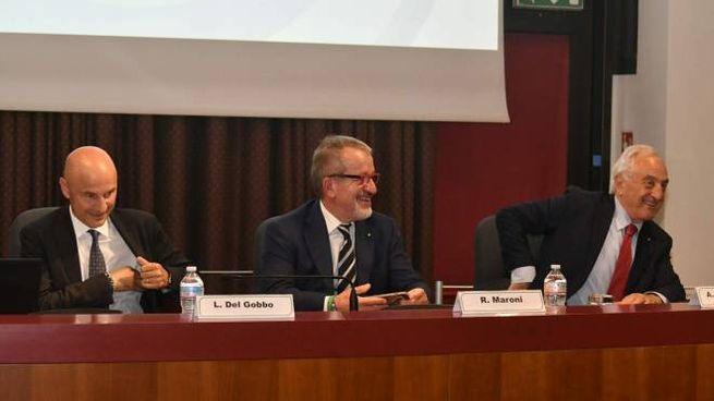 Luca Del Gobbo, Roberto Maroni ed Alberto Bombassei