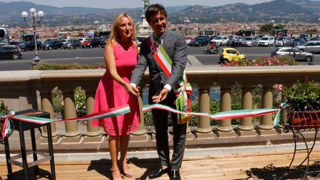 Inaugurazione delle balaustre restaurate al Piazzale