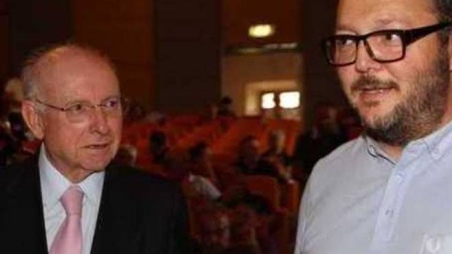 Sergio Schiavoni e David Miani, appena qualche mese fa. Ora sono su due strade contrapposte