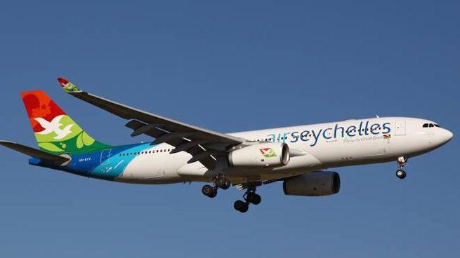 Il velivolo della Air Seychelles di Vallicelli