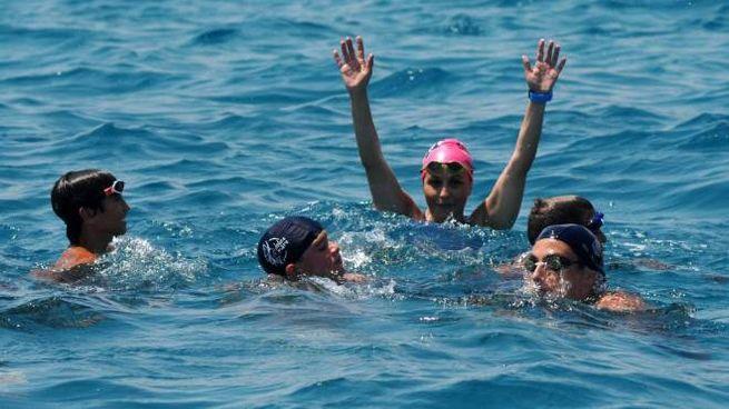Monica Priore, la nuotatrice dei record, a San Focacon i giovani delle associazioni